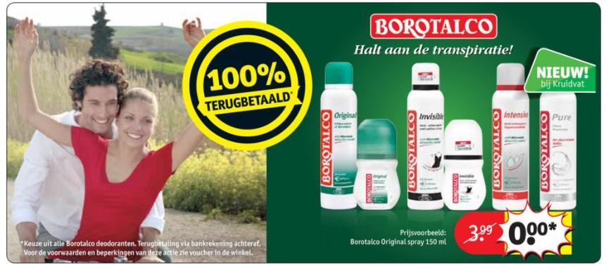 Gratis Borotalco Deodorant Ik Ben De Slimste