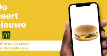 Gratis cheese burger bij McDonalds