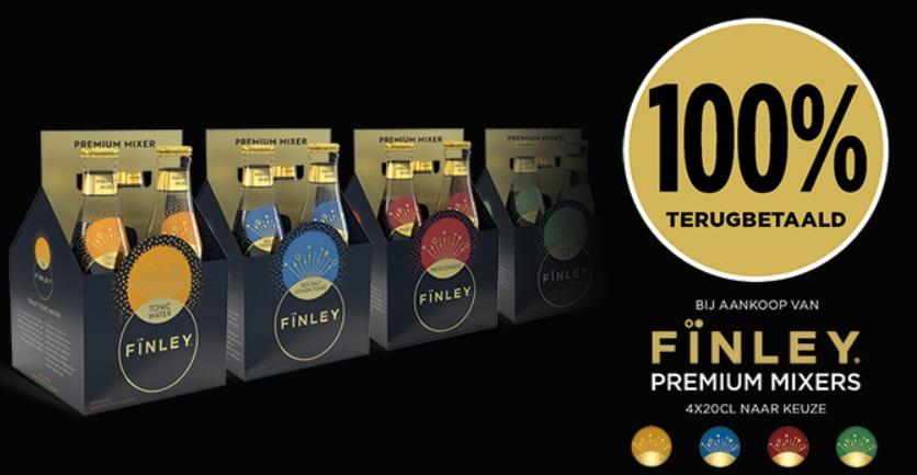 Finley Premium Mixers 100% terugbetaald