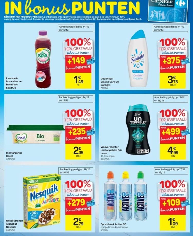 Gratis producten bij Carrefour