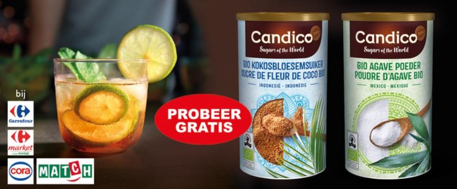 Gratis Candico bio kokosbloesemsuiker of agave poeder