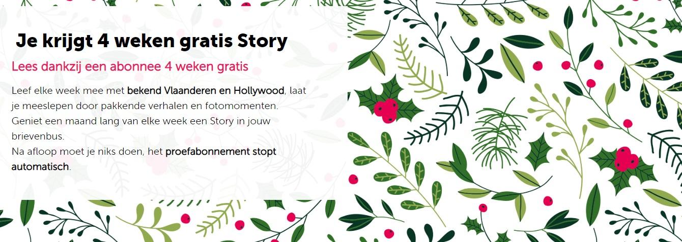 Gratis 1 Story magazine tijdens 4 weken