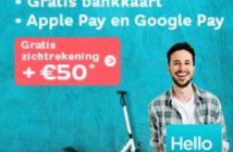 Gratis zichtrekening + €50 cash met Hello Bank
