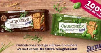 Sultana Crunchers crackers 100% terugbetaald met myShopi