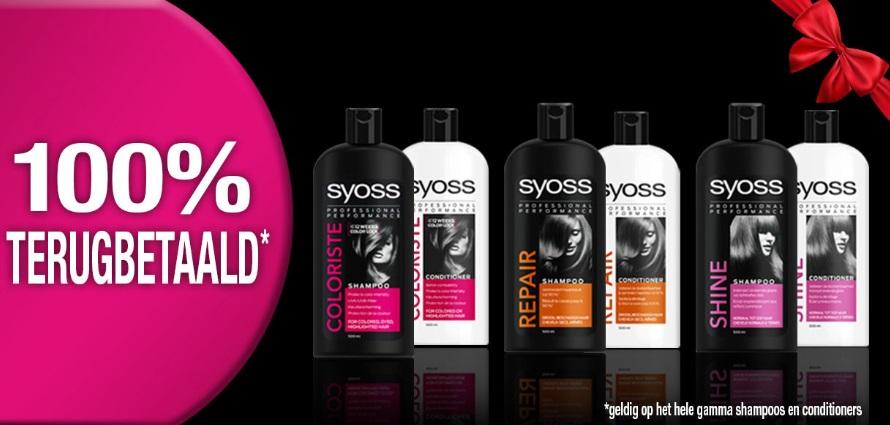 Syoss shampoo of conditioner 100% terugbetaald met myShopi