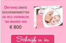 Gratis baby en mama geschenkpakket De Roze Doos