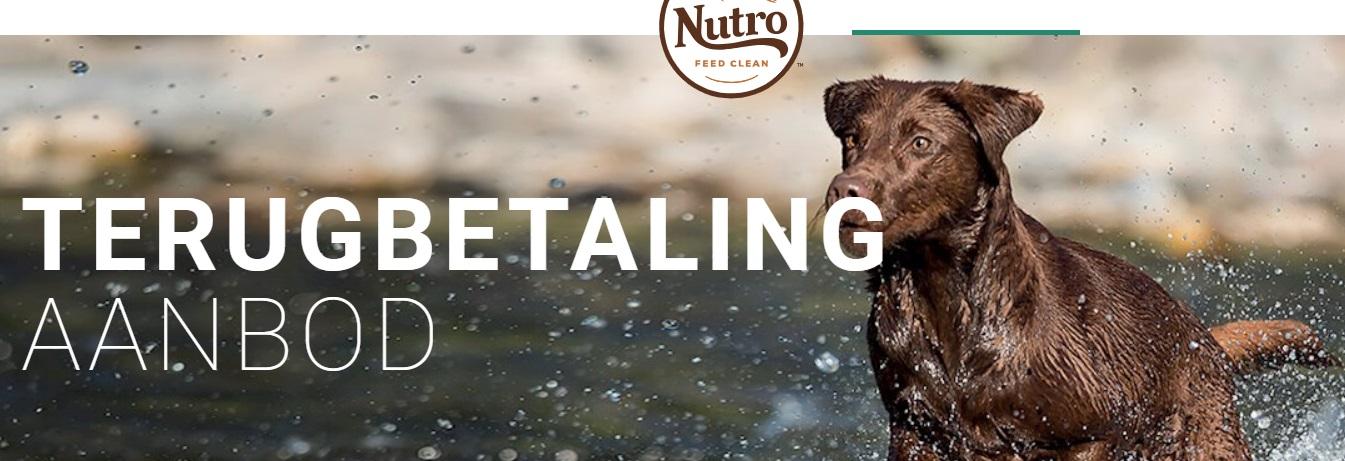Nutro honden- en kattenvoeding 100% terugbetaald