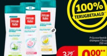 Pétrole Hahn anti-roos shampoo 100% terugbetaald bij Kruidvat