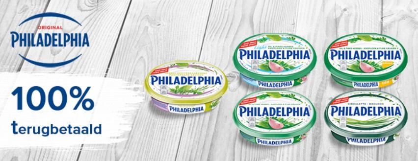 Philadelphia met kruiden 100% terugbetaald