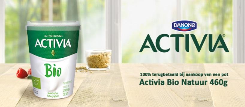 Activia Bio Natuur yoghurt 100% terugbetaald