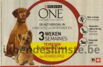 Purina One hondenvoeding 100% terugbetaald