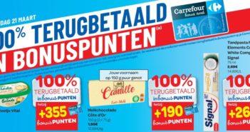 100% terugbetaalde producten bij Carrefour op 21 maart 2019