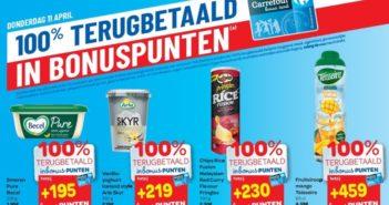 100% terugbetaalde producten bij Carrefour Hyper op 11 april 2019
