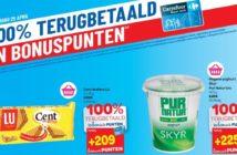 100% terugbetaalde producten bij Carrefour op 25 april 2019