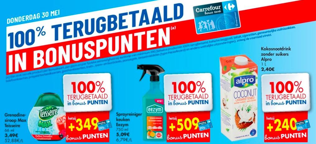 100% terugbetaalde producten bij Carrefour Hyper op vrijdag 31 mei 2019