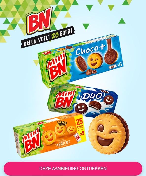 BN Mini koekjes 100% terugbetaald met Shopmium