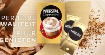 Gratis staal Nescafé Cappuccino koffie