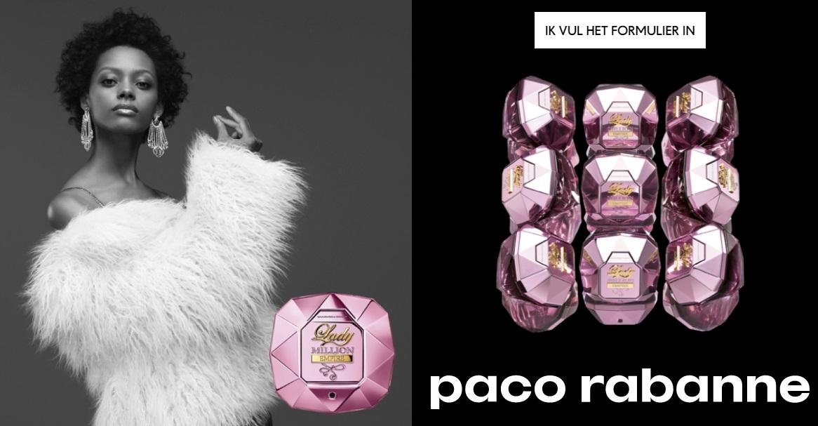 Gratis staal parfum Lady Million Empire Paco Rabanne