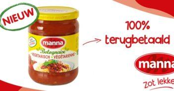 Manna vegetarische bolognaise 100% terugbetaald op myShopi