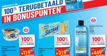 100% terugbetaalde producten bij Carrefour op 11 juli 2019