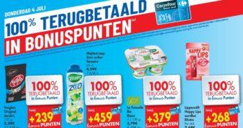 100% terugbetaalde producten bij Carrefour op 4 juli 2019