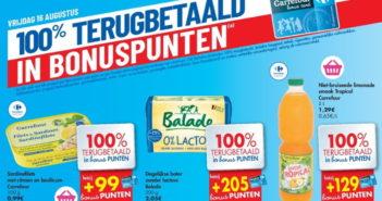 100% terugbetaalde producten bij Carrefour op 16 augustus 2019