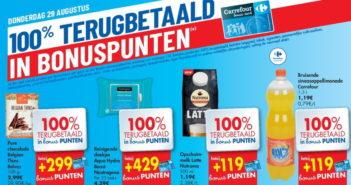 100% terugbetaalde producten bij Carrefour op 29 augustus 2019