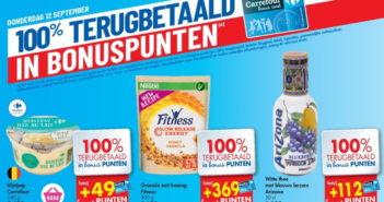 100% terugbetaalde producten bij Carrefour op 12 september 2019