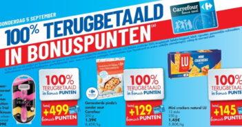 100% terugbetaalde producten bij Carrefour op 5 september 2019