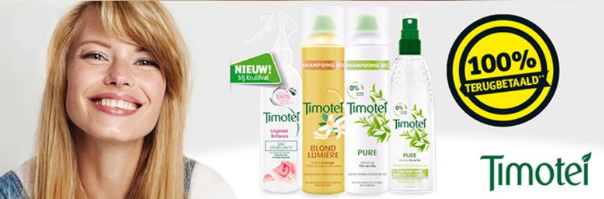 Timotei styling product 100% terugbetaald bij Kruidvat