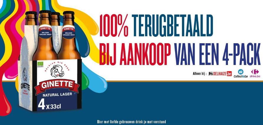 Ginette bier 100% terugbetaald via myShopi