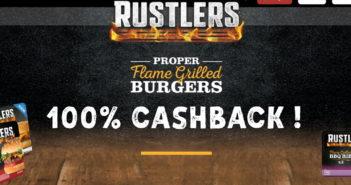 Rustlers Flame Grilled burgers 100% terugbetaald