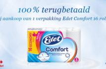 Edet Comfort toiletpapier 100% terugbetaald met myShopi