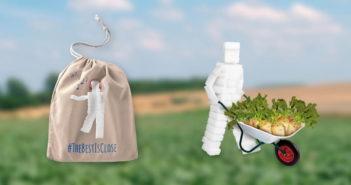 Gratis bio herbruikbare zak met de Tiense Suiker