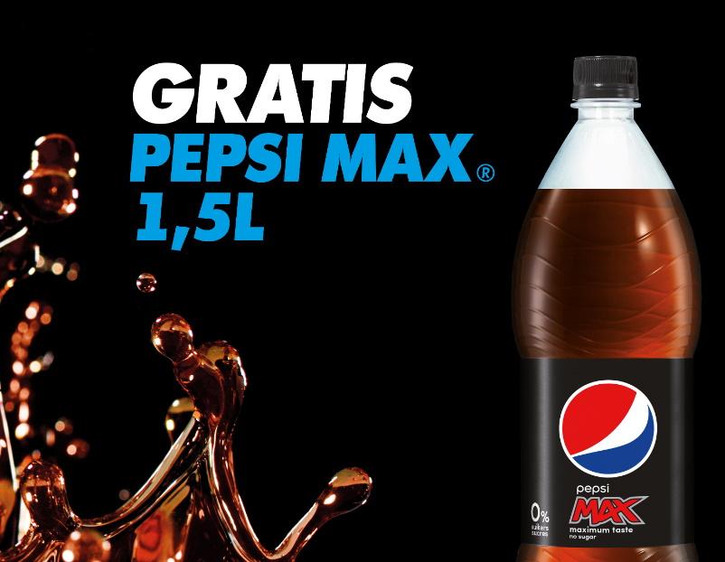 Fles Pepsi Max 100% terugbetaald