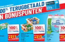 100% terugbetaalde producten bij Carrefour op 14 november 2019