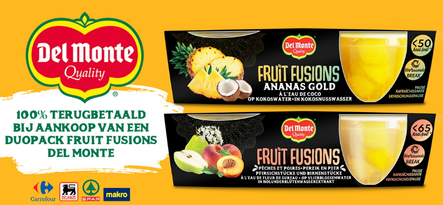 Del Monte Fruit Fusions 100% terugbetaald met myShopi