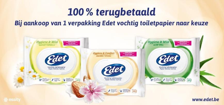 Edet vochtig toiletpapier 100% terugbetaald met myShopi