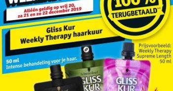 Gliss Kur haarverzorging 100% terugbetaald bij Kruidvat