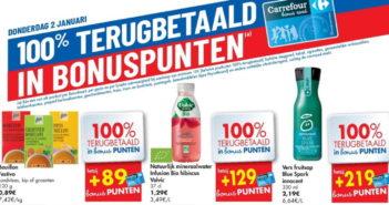 100% terugbetaalde producten bij Carrefour op 2 januari 2020