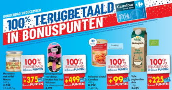 100% terugbetaalde producten bij Carrefour op 26 december 2019