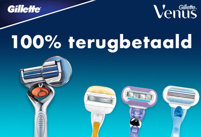 Gillette / Venus scheerapparaat 100% terugbetaald