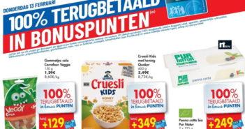 100% terugbetaalde producten bij Carrefour op 13 februari 2020