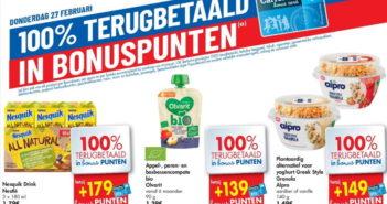 100% terugbetaalde producten bij Carrefour op 27 februari 2020