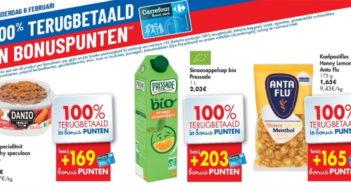 100% terugbetaalde producten bij Carrefour op 6 februari 2020