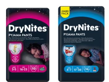 Gratis DryNites luiers voor kinderen