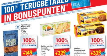 100% terugbetaalde producten bij Carrefour op 12 maart 2020