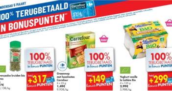 100% terugbetaalde producten bij Carrefour op 5 maart 2020