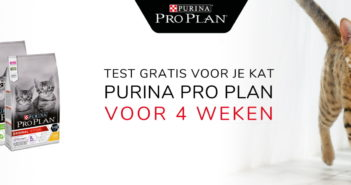 Test gratis Purina Pro Plan kattenvoeding