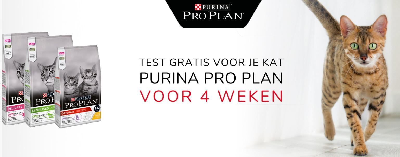 Test gratis Purina Pro Plan kattenvoeding